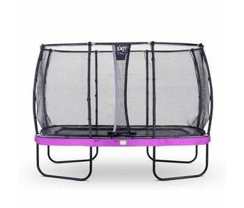 Exit  Elegant trampoline rectangular 214x366cm with safetynet Deluxe - purple