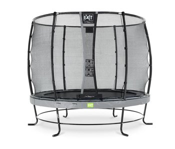 Exit  Elegant trampoline ø305cm with safetynet Deluxe (Grey)