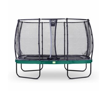 Exit  Elegant trampoline rectangular 244x427cm with safetynet Deluxe - green