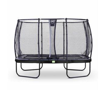 Exit  Elegant trampoline rectangular 244x427cm with safetynet Deluxe - black