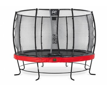 Exit  Elegant Premium trampoline ø427cm with safetynet Deluxe - red