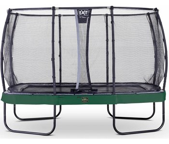 Exit  Elegant Premium trampoline rectangular 244x427cm with safetynet Deluxe - green