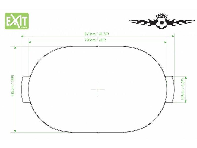 EXIT Panna-Field Oval 795x488cm