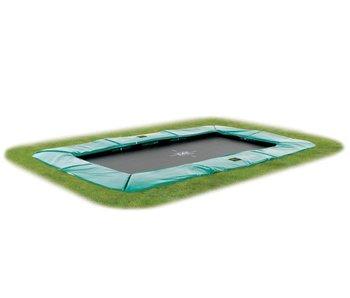 Exit  Supreme groundlevel trampoline rectangular 244x427cm (8x14ft) - green