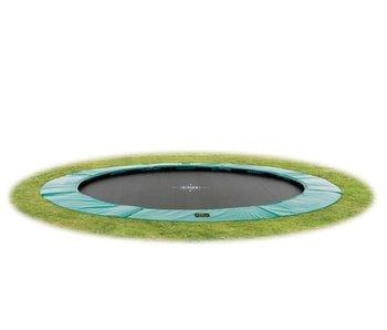 Exit  Supreme groundlevel trampoline ø427cm (14ft) - green
