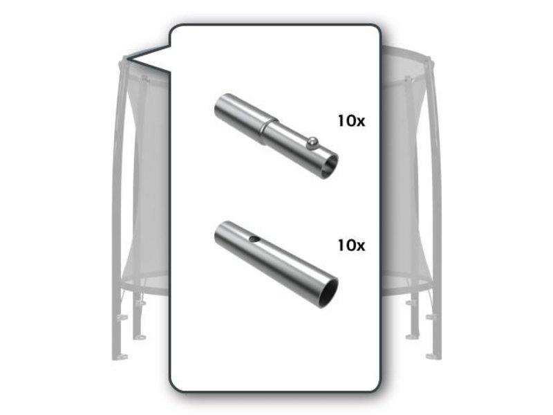BERG Safety Net - Metalen connectors bovenhoepel (10x)
