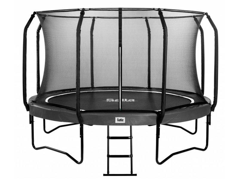 Salta Class Trampoline Superior Black Edition 251 cm met veiligheidsnet en gratis trapje