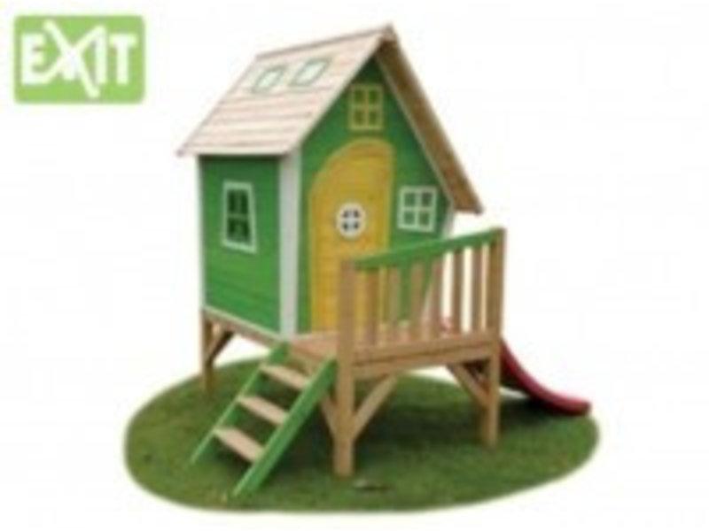 Exit  Houten EXIT speelhuis Fantasia 300 Green Incl gratis EXIT decoratie setje