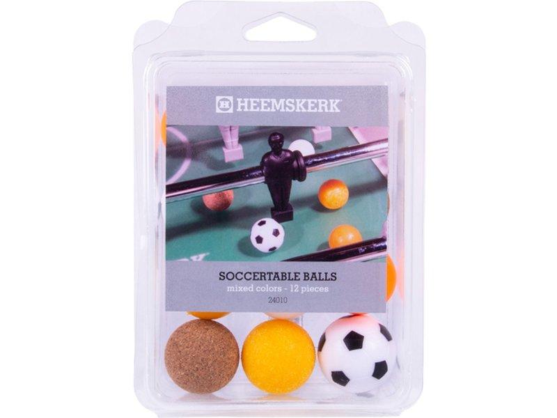 Heemskerk Tafelvoetbalballetjes Assorti per 12