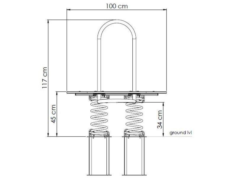 Veertoestel in HDPE 'modern' L-line