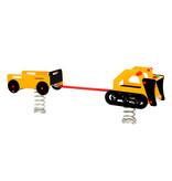 Veertoestel Bulldozer met Aanhangwagen