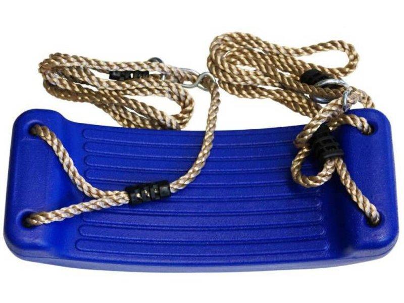 Schommelzitje in geblazen kunststof  blauw