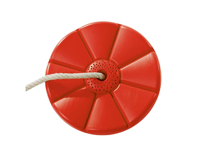 Kunststof schotelschommel rood