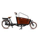 Vogue  E-bike bakfiets Carry tweewieler Middenmotor Black/Brown