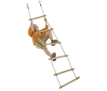 Houten sporten touwladder 6 sporten