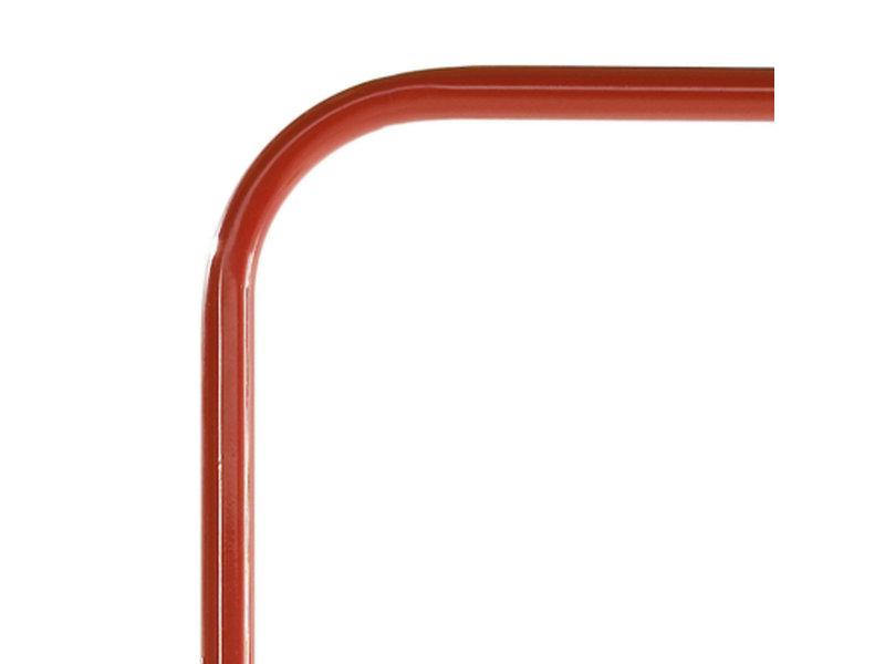Metalen glijpaal - vrij uiteinde - rood