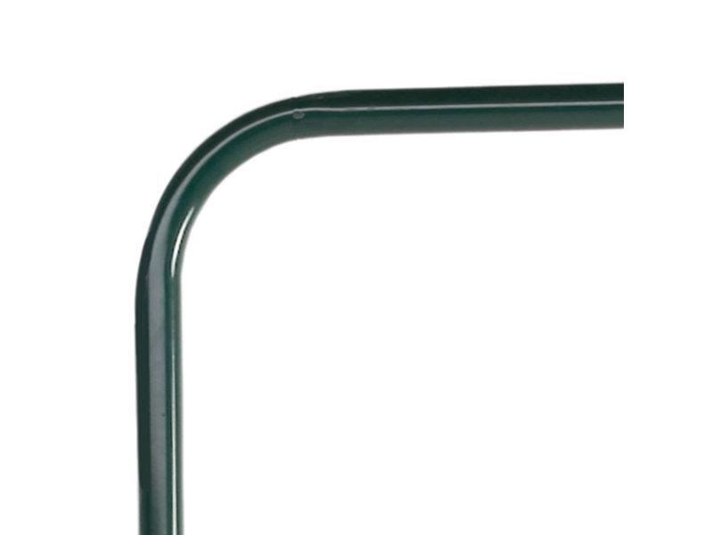 Metalen glijpaal - vrij uiteinde - groen