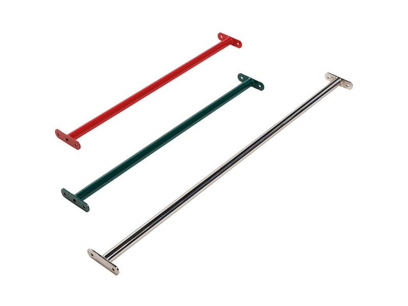 Metalen duikelstang - 1250 mm - groen - incl. montageset