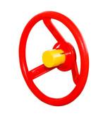 Stuurwiel - rood - met gele toeter