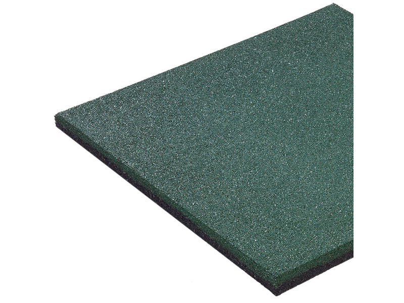 Rubberen tegel 'hicar' - dikte 25 mm - groen