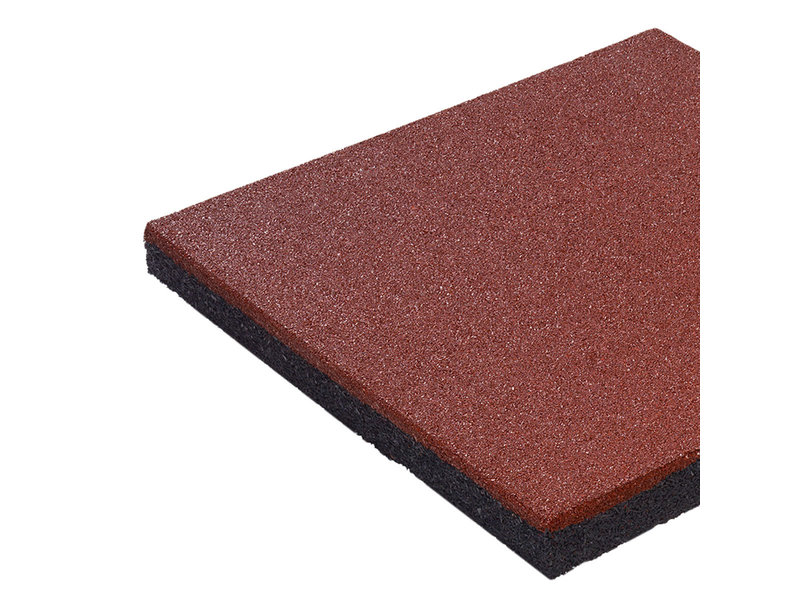 Rubberen tegel 'hicar' - dikte 45 mm - rood