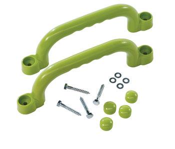 Handgrepenset in kunststof - 250 mm - limoen groen