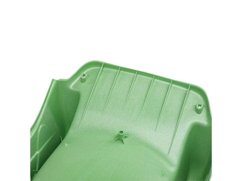 Glijbaan  met golf REX met platformhoogte120 cm - Appelgroen