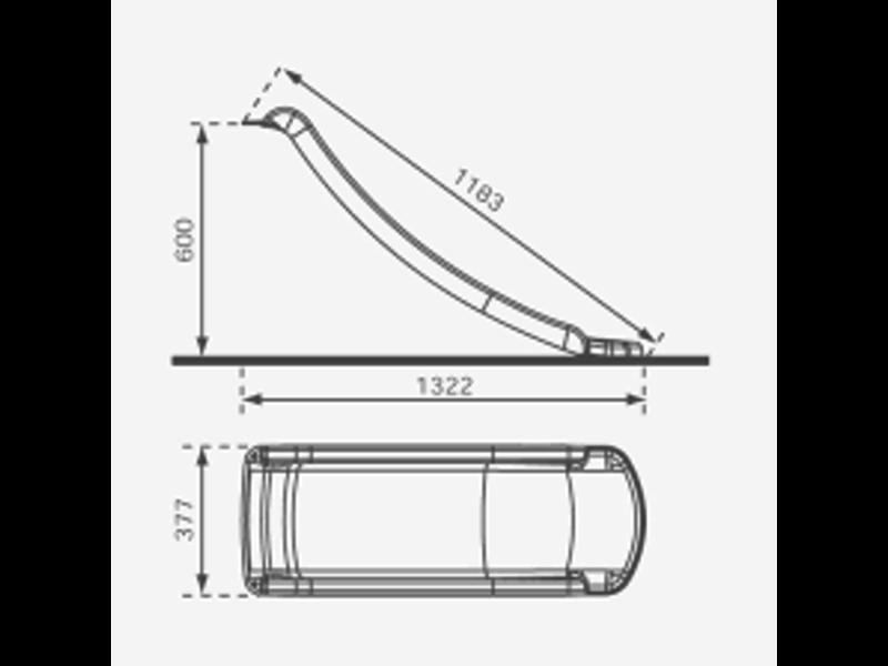 Losse glijbaan Toba voor platformhoogte 60 cm - Rood