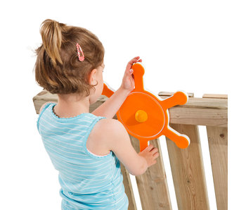Stuurwiel Boot oranje
