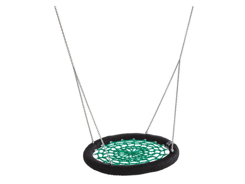 Nestschommel Rosette rond groen/zwart openbaar