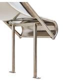RVS aanbouwglijbaan Steg voor platformhoogte 90 - 100 cm