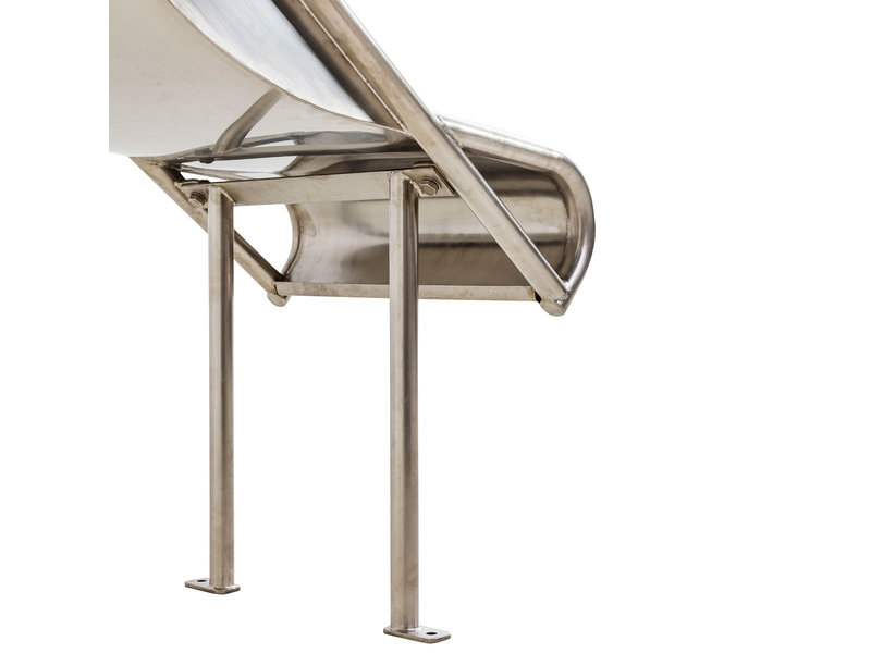 RVS aanbouwglijbaan Steg voor platformhoogte 105 - 125 cm