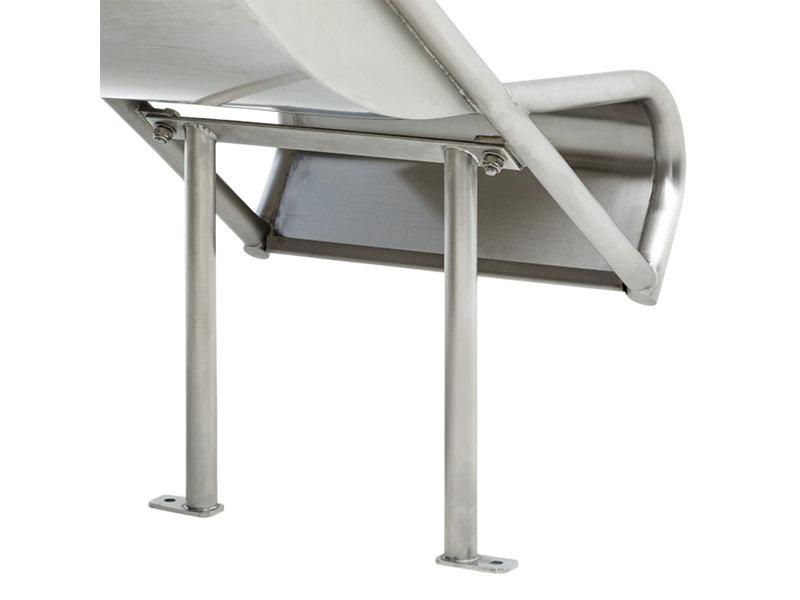 RVS aanbouwglijbaan Steg-on voor platformhoogte 105-125 cm