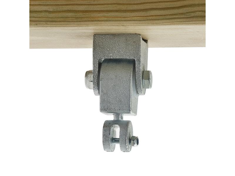 Schommelhaak Premium RVS  M12 voor schachtlengte: 160 mm
