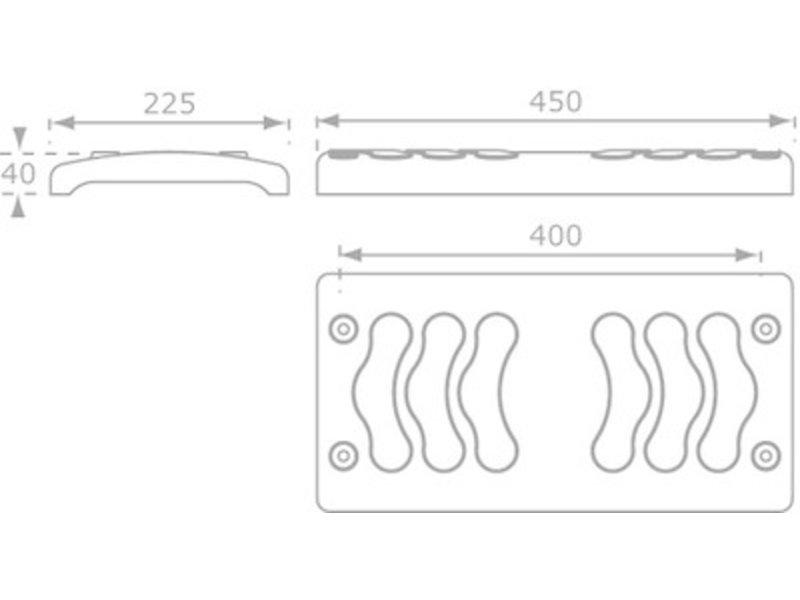Schommelzit Rubber Comfort met gegalvaniseerde kettingen 2 meter