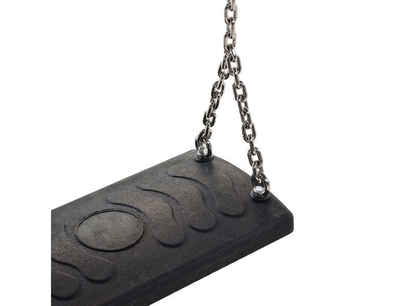 Schommelzit rubber Comfort RVS kettingset 2,5 meter
