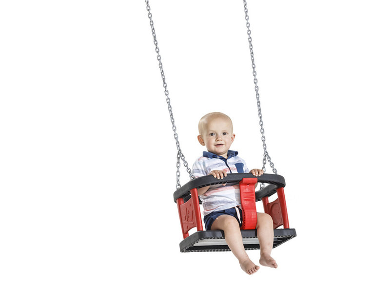 Babyschommel Rubber Curve inclusief RVS kettingset