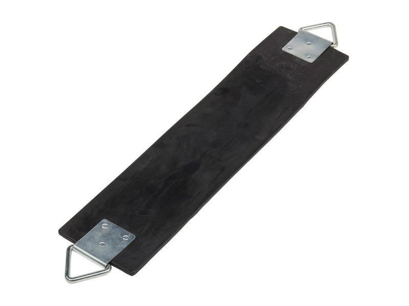 Schommelzitje soepel in rubber met galvaniseerde kettingset 2,5 meter zwart