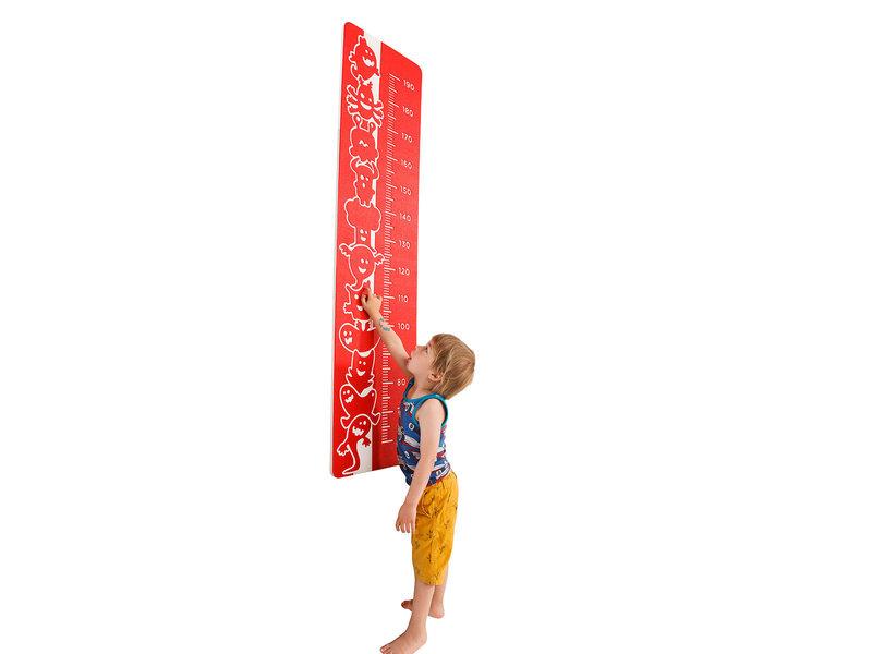 Speelpaneel 'hoe groot' - rood
