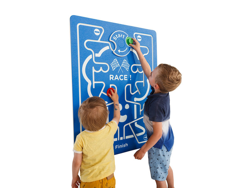 Speelpaneel 'race!' - blauw