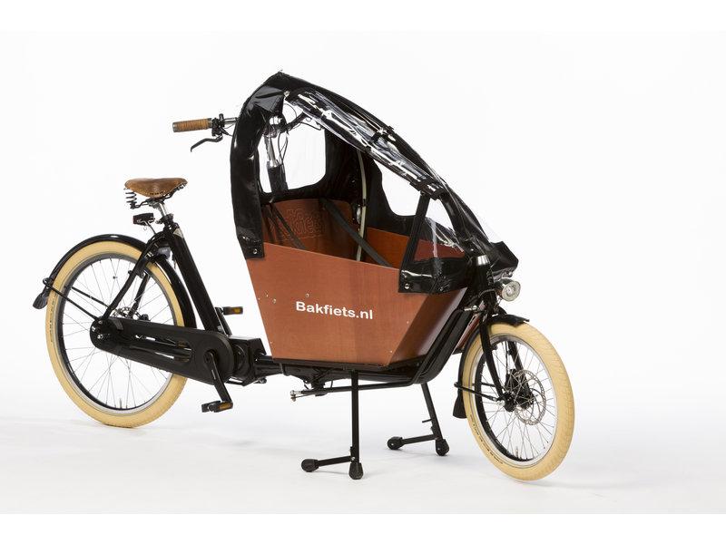 Bakfiets.nl Tent Cargobike short all-open zwart