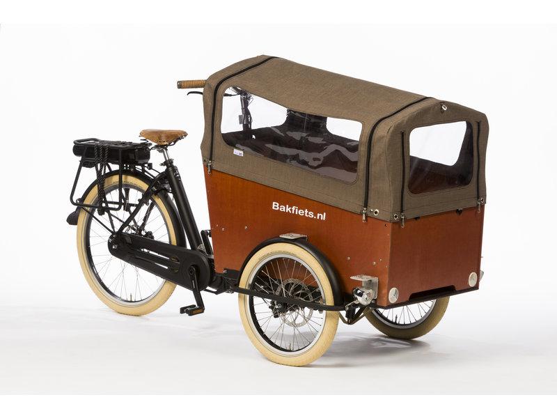 Bakfiets.nl Tent Trike Wide met rits: tweed