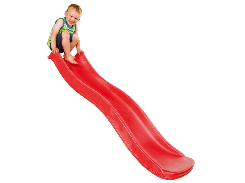 Losse glijbaan Tweeb voor platformhoogte 90 cm - rood