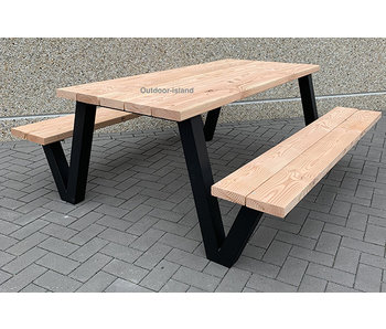 Outdoor Island Douglas Picknicktafel Model W
