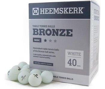 Heemskerk Tafeltennisballen Bronze 1 ster Wit per 6 stuks