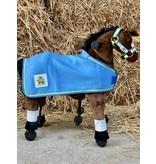 Animal Riding Deken voor Medium dieren blauw met Logo