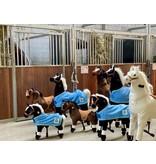 Animal Riding Deken voor X-Large dieren blauw met Logo
