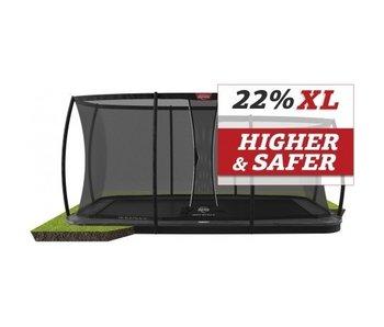 BERG Ultim Elite FlatGround 500x300 cm + Safety Net DLX XL Grijs/Zwart