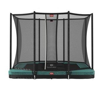 BERG Ultim Favorit InGround 280 x 190 cm rechthoekig met Safetynet Comfort Groen/Grijs