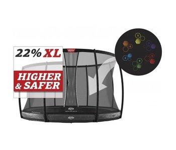 BERG Elite InGround 430 Levels + Safety Net DLX XL Grijs